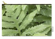 Rain Drops On Ferns Carry-all Pouch