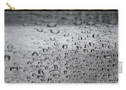 Rain Drops On Stainless Steel Carry-all Pouch