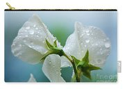 Rain On Sweet Peas Carry-all Pouch