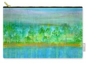 Rain  Original Contemporary Acrylic Painting On Canvas Carry-all Pouch