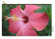 Rain Soaked Hibiscus Carry-all Pouch