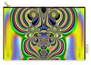 Rainbow Alien Owls Fractal 57 Carry-all Pouch