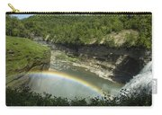 Middle Falls With Rainbow Carry-all Pouch