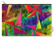 Rainbow Bliss - Pin Wheels - Painterly - Abstract - V Carry-all Pouch