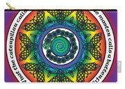 Rainbow Celtic Butterfly Mandala Carry-all Pouch