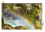 Rainbow In Avalanche Creek Canyon In Glacier National Park-montana Carry-all Pouch