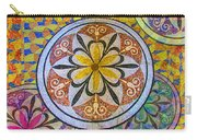 Rainbow Mosaic Circles And Flowers Carry-all Pouch