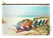 Rainbow Of Adirondack Chairs IIII Carry-all Pouch