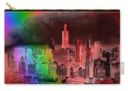 Rainbow On Chicago Mixed Media Textured Carry-all Pouch