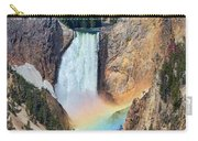 Rainbow On The Lower Falls Yellowstone National Park Carry-all Pouch