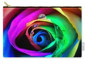 Rainbow Rose Carry-all Pouch by Juergen Weiss