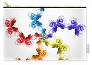 Rainbow Roses In White Carry-all Pouch