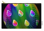 Rainbow Showers Baseball Square Carry-all Pouch