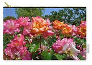 Rainbow Sorbet Roses Carry-all Pouch by Denise Mazzocco