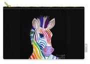 Rainbow Striped Zebra 2 Carry-all Pouch