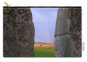 Rainbow Through Stonehenge Sarsens Carry-all Pouch
