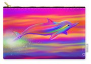 Rainbow Tide Dolphin Carry-all Pouch