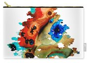 Rainbow Tree 2 - Colorful Abstract Tree Landscape Art Carry-all Pouch by Sharon Cummings