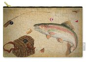Rainbow Trout-basket Weave Carry-all Pouch