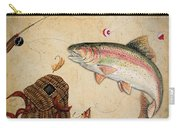 Rainbow Trout Carry-all Pouch by Jean Plout