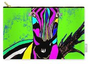 Rainbow Zebra 2 Abstract Carry-all Pouch