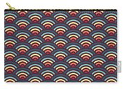 Rainbowaves Pattern Dark Carry-all Pouch by Freshinkstain