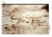 Raindrop Falling On The Street Carry-all Pouch