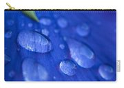 Raindrop Pansy Carry-all Pouch by Anne Gilbert