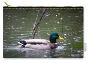 Raindrops Falling On Duck Head Carry-all Pouch