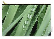 Raindrops On Blades Of Grass Carry-all Pouch