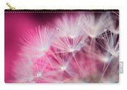 Raindrops On Dandelion Magenta Carry-all Pouch