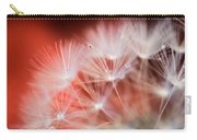 Raindrops On Dandelion Red Carry-all Pouch