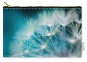 Raindrops On Dandelion Sea Blue Carry-all Pouch