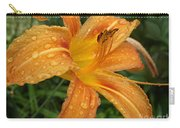 Raindrops On Golden Lily Carry-all Pouch