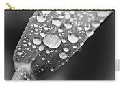 Raindrops On Grass In Black And White Carry-all Pouch