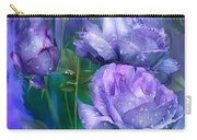 Raindrops On Lavender Roses Carry-all Pouch
