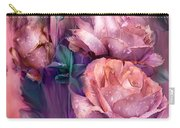 Raindrops On Peach Roses Carry-all Pouch