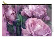 Raindrops On Pink Roses Carry-all Pouch
