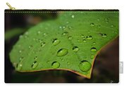 Raindrops On Plumeria Leaf Carry-all Pouch