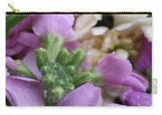 Raindrops On Purple And White Flowers Carry-all Pouch