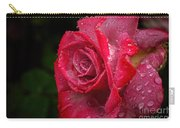 Raindrops On Roses Carry-all Pouch by Peggy Hughes