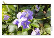 Raindrops On Violets Carry-all Pouch