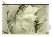 Raindrops On White Rose Carry-all Pouch