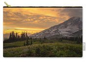 Rainier Wildflowers Meadow Sunset Carry-all Pouch