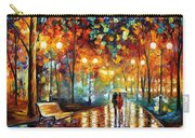 Rain's Rustle 2 - Palette Knife Oil Painting On Canvas By Leonid Afremov Carry-all Pouch