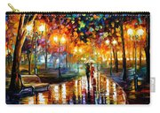 Rain's Rustle - Palette Knife Oil Painting On Canvas By Leonid Afremov Carry-all Pouch