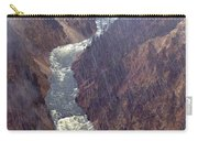 Rainstorm Over Grand Canyon Of The Yellowstone Carry-all Pouch