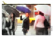 Rainy Day In The City - Blue Pink And Polka Dots Carry-all Pouch