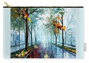 Rainy Day - Palette Knife Oil Painting On Canvas By Leonid Afremov Carry-all Pouch