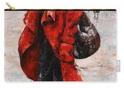 Rainy Day - Red And Black #2 Carry-all Pouch by Emerico Imre Toth